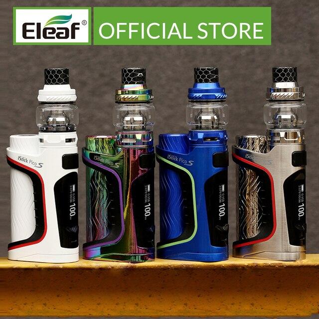 [צרפת] מקורי סיגריה אלקטרונית ערכת Eleaf iStick S פיק עם ELLO VATE ערכת 100W מקס חלשות עם HW M ו HW/N סליל ראש