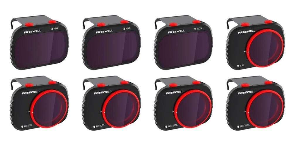 Freewell todo o dia-4 k series-8 filtros de pacote compatíveis com mavic mini drone