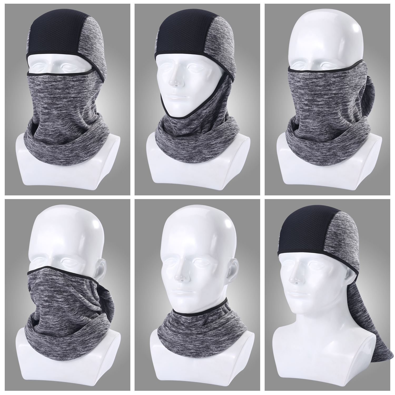 Image 4 - Winter Warmer Fleece Balaclava Full Face Mask Motorcycle Cycling  Thermal Hood Liner Shield Hat Sports Ski Bike Bicycle  SnowboardMotorcycle Face Mask