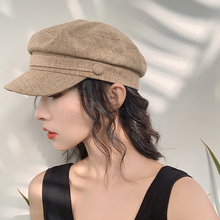 2019 New Autumn Winter Plaid Beret Hats For Women French Berets