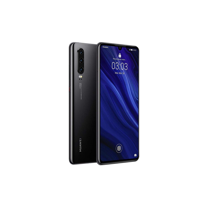 Huawei P30, Black Color (Black), Dual SIM, Internal 128 GB De Memoria, 6 Hard GB RAM, Screen 6.1