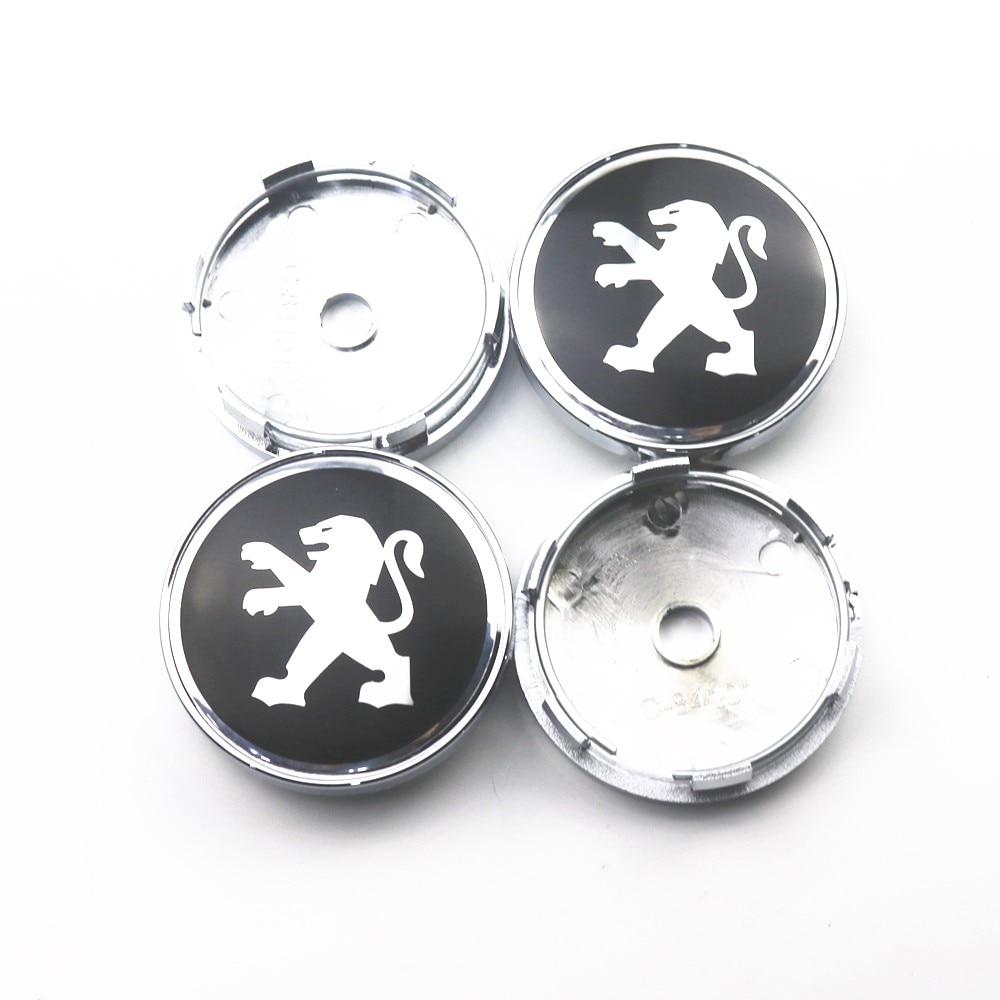 4pcs 60mm Wheel Center Hub Caps Car Emblem Badge Logo Wheel Center Cap For Peugeot 107 108 206 207 308 307 508 2008 3008