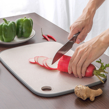 Cutting Board Kitchen Tool Wheat Straw Rectangle Hangable Durable Non-slip Plastic Chopping 2019