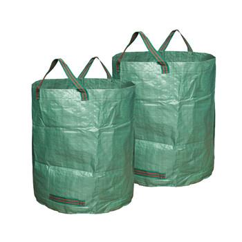 Torby ogrodnicze wielokrotnego użytku torby ogrodnicze worki na śmieci ogrodowe 72 galony 3pcs maj #16 tanie i dobre opinie Z tworzywa sztucznego ROUND