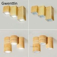 Скандинавские круглые квадратные деревянные потолочные светильники  современные светодиодные деревянные потолочные светильники для спал...