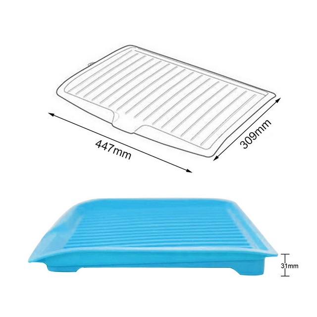 Drain Rack Plastic Dish Drainer Tray Sink Dryer Organizer Silicone Drying Mat Worktop Organizer For Kitchen Accessories 2