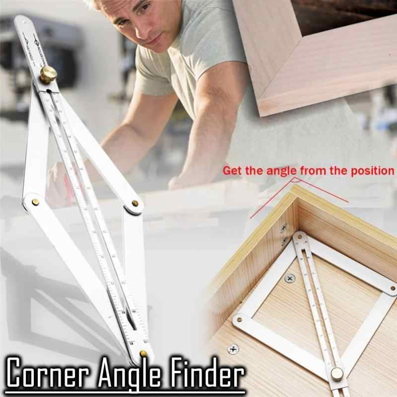 Corner Angle Finder Protractor Ruler Woodworking Model Craft Angle Square Tool