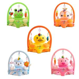 Sofa Support Seat Cover Baby Plush Chair Cartoon Learning To Sit Plush Chair Comfortable Toddler Nest Puff Washable No Filler