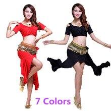 Belly Dance Dress Top Belt Skirt for Women Belly Dance Costu
