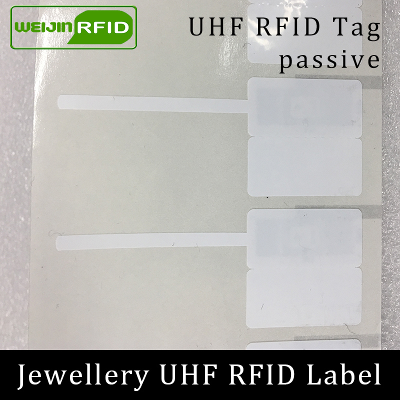 UHF RFID Jewelry Jewellery Watch Tag EPC 6C Sticker 915m 868m 860-960MHZ M4e Small Adhensive Printable Passive RFID PET Label