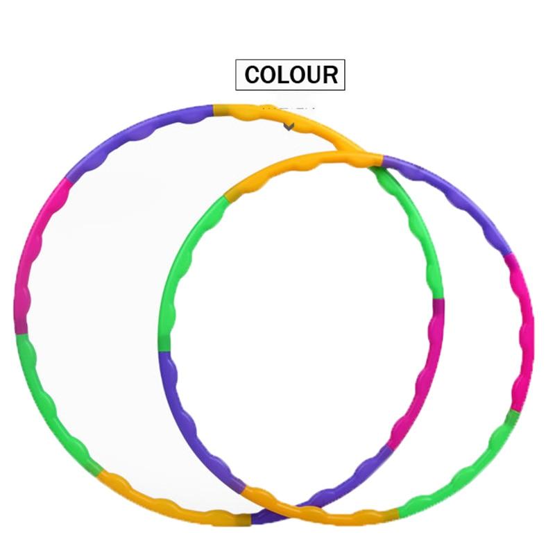 NEW Detachable Hoop Adult Children Fitness Circle Plastic Massage Gymnastics Hoop Toy
