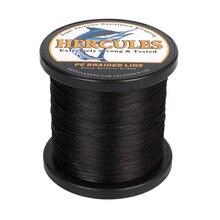 Hercules рыболовная леска без потери цвета 8 прядей черная 100
