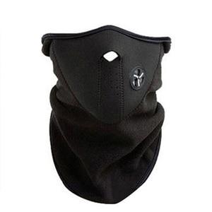 Image 1 - Motorcycle Half Face Mask Cover Fleece Unisex Ski Snow Moto Cycling Warm Winter Neck Guard Scarf Warm Protecting Maske