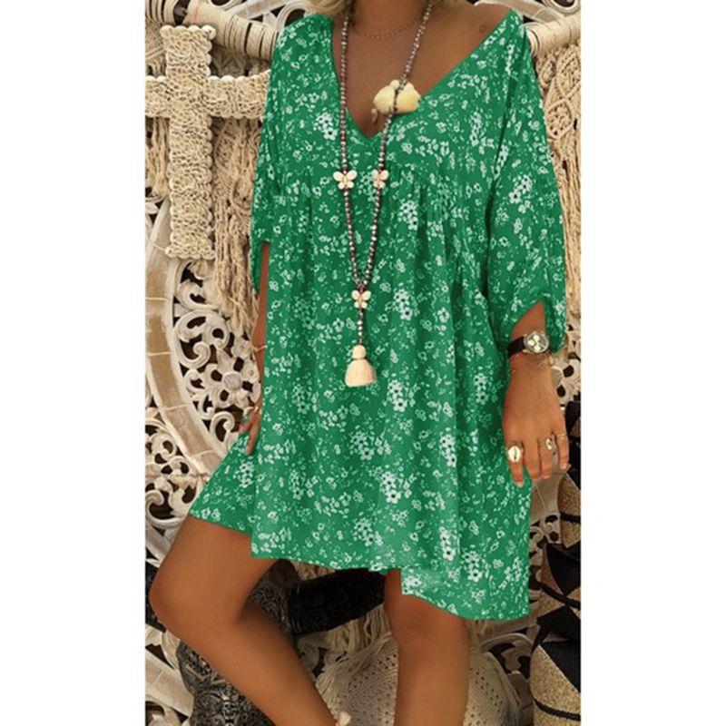 us veteran 2021 Women Dress Plus Size Dresses Women Loose dress Summer Style Feminino Vestido Casual Big Size Ladies Dress 7