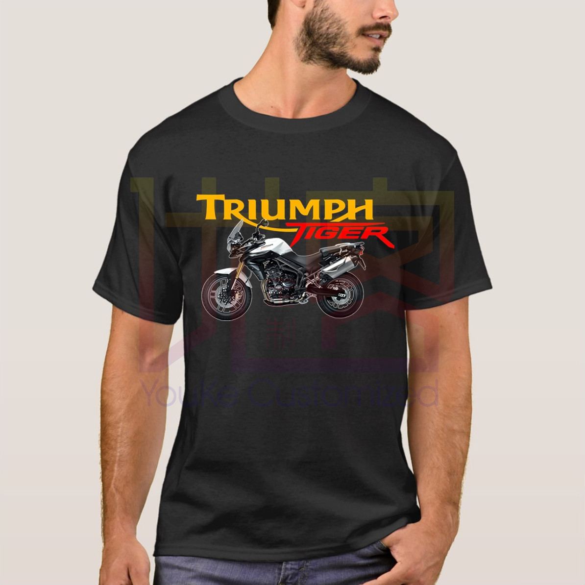 Triumph Tiger T-Shirt Short Sleeve Men's T-Shirt 2019 Hot Leisure Big Size Cotton Crewneck Motor Men's Clothes