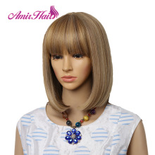 Straight Black Synthetic Wigs