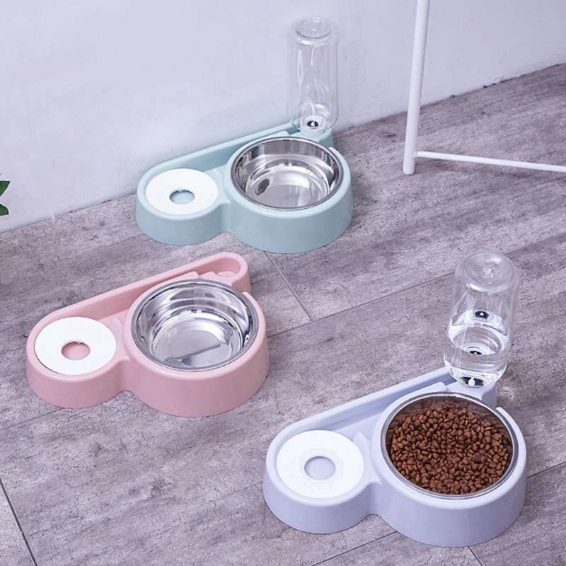 Automatic Cats Water Fountain Drinking Food Bowl Pet Cat Dog Double Bowl Feeder Fountain Bubble For Cat Pets Water Dispenser