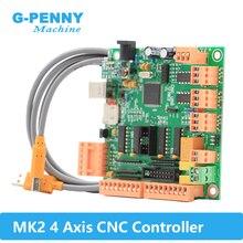 MK2 100Khz 4 kontroler osi zamiast Mach3 4 osi interfejs CNC kontroler MK2 CNC płyta USB dla silnika krokowego/serwo