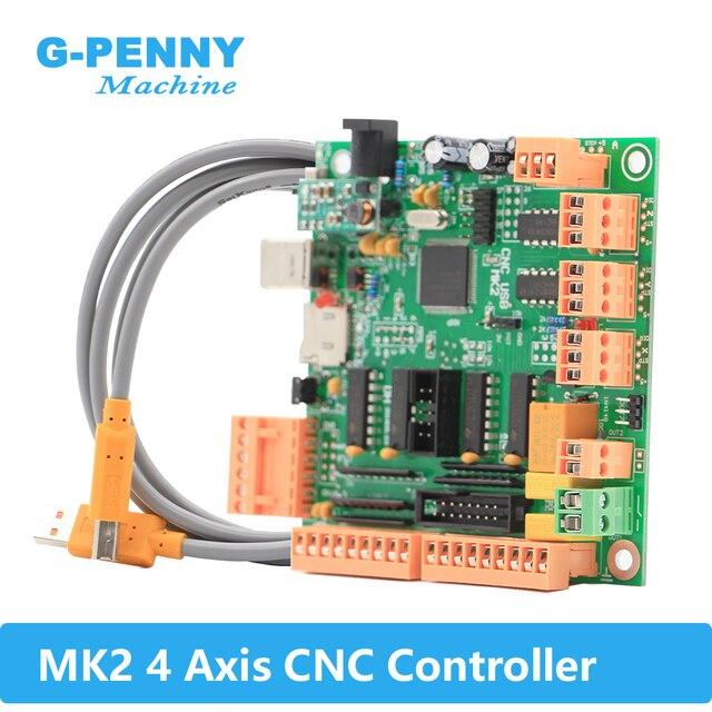 Mk2 100khz placa do controlador de 4 eixos em vez de mach3 4 eixos interface cnc controlador mk2 cnc placa usb para motor deslizante/servo