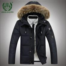 Parkas de plumón de pato para hombre, chaquetas con capucha de alta calidad, gruesa y cálida, abrigo cortavientos para invierno