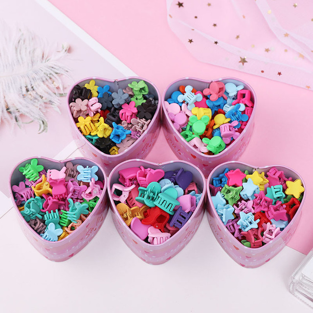 Girl's Candy Colors Mini Hair Claws 15 Pcs Set 4