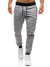 Zip pocket Casual Pants Trousers Men Sports Fitness Outwear Harem Gray Joggers Sweats