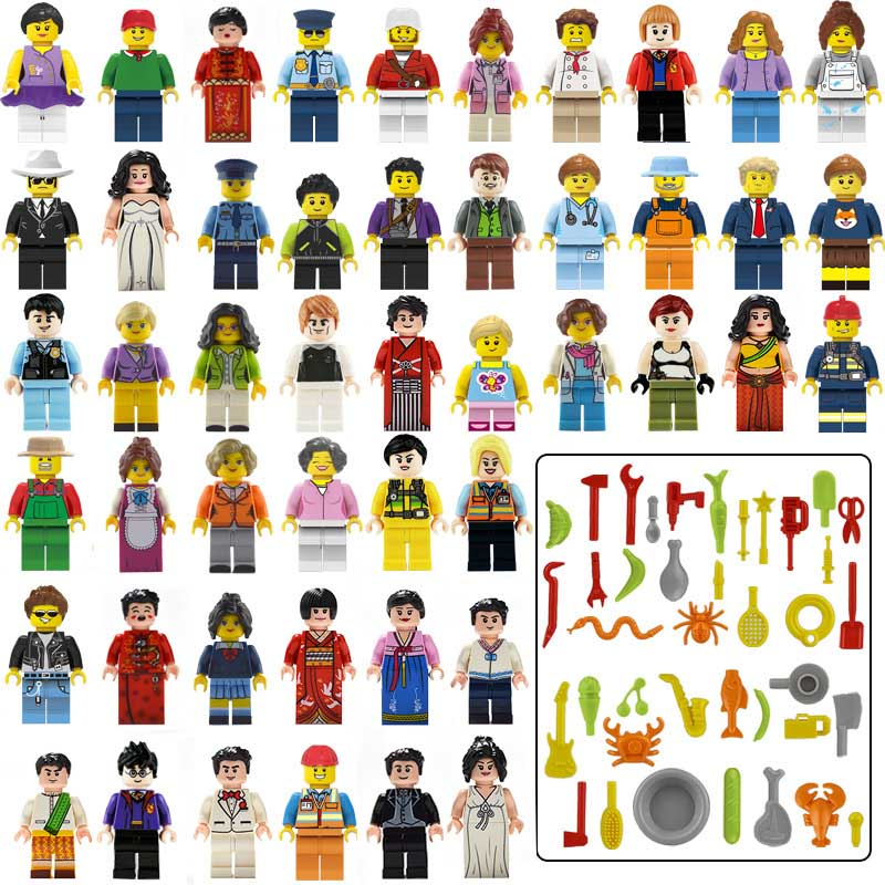 48pcs New Compatible LegoINGlys City Live Mini Figure Bricks Building Blocks Girl Friends Toys For Children BRITHDAY Gift C-1