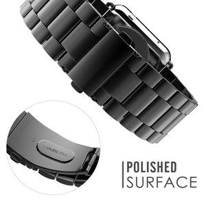 Image 4 - Jansin luxo pulseira de aço inoxidável para apple assistir banda 42mm 38mm 44mm 40mm pulseira banda para iwatch série 6 se 5 4 3