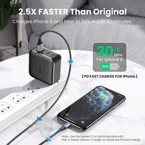 Image 5 - Зарядное устройство Ugreen PD 65 Вт, зарядное устройство GaN USB Type C для Apple MacBook Air iPad Pro Samsung, быстрое зарядное устройство для планшета Nintendo Switch