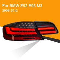 1Pair LED Tail Lamp for BMW E92 E93 M3 330 335 2006 2012 Red Smoked Black LED Tail Lamp Turning Signal Brake Light Reverse Light