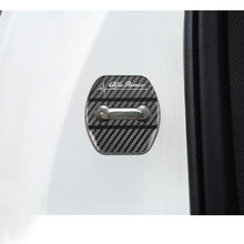 Carro-estilo do carro fechadura da porta capa emblemas auto caso para alfa romeo 159 147 156 giulietta 147 159 acessórios do carro 4 pçs