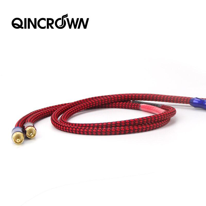 ATAUDIO HIFI estéreo par Cable RCA de alto rendimiento Premium de Audio de alta fidelidad, 2rca un 2rca Cable de interconexión
