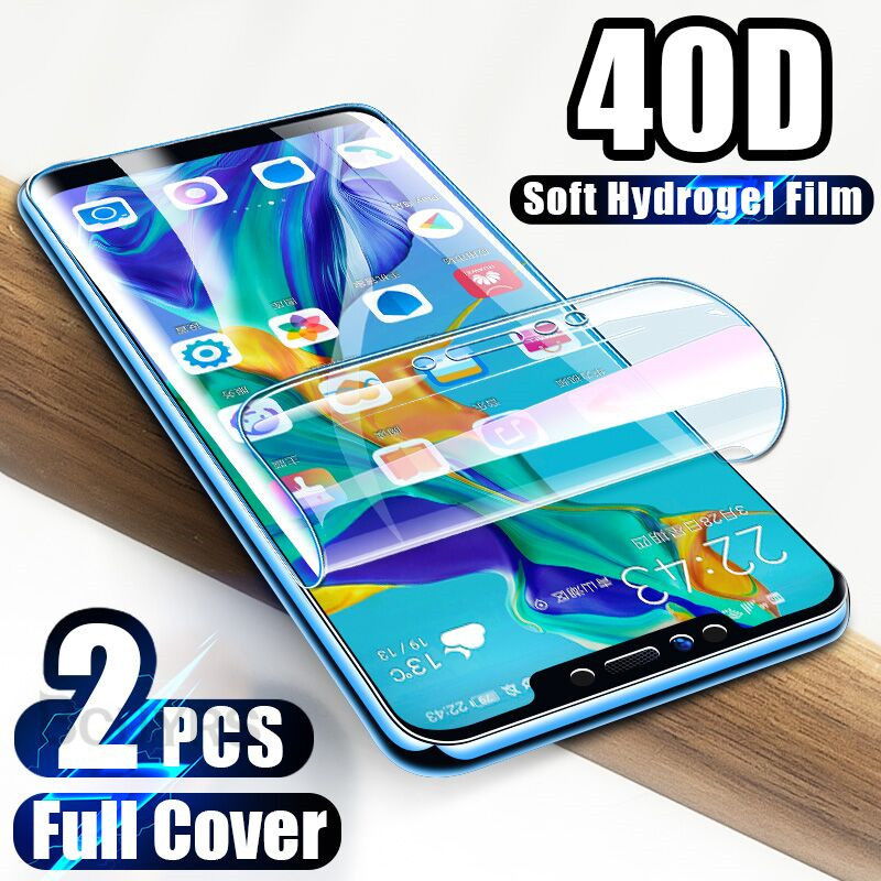 2PCS 40D Screen Protector For Huawei P30 Pro P20 Lite Mate 30 Pro Hydrogel Film For Huawei Mate 20 Lite Mate 10 Pro Soft Film