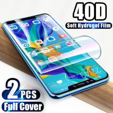 40D Screen protector For Huawei P30 Pro P20 Lite Pro P Smart Plus Hydrogel Film For Huawei Mate 20 Lite Mate 10 Pro Soft Film(China)