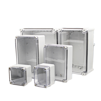цена на Waterproof junction box IP67 outdoor electrical box transparent cover ABS plastic sealed box waterproof box instrument box