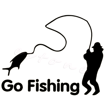 Go Fishing Funny Styling Car Stickers Outdoor for Car Accessories Decoration image