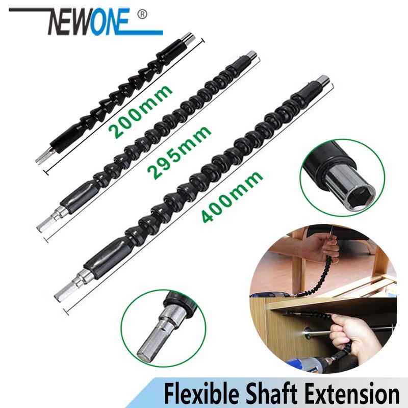 Baru Poros Fleksibel Ekstensi Obeng Bor Bit Pemegang Link untuk Elektronik Bor 200/295/400 Mm title=