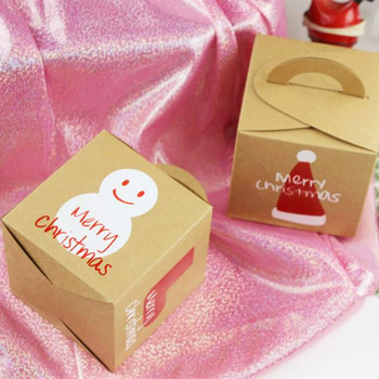 Christmas Packaging Kraft Candy Dragee Paper Bag Gifts Box for The New Year 2020 Noel Xmas Tree Chocolate Cookie Wrapping Paper image