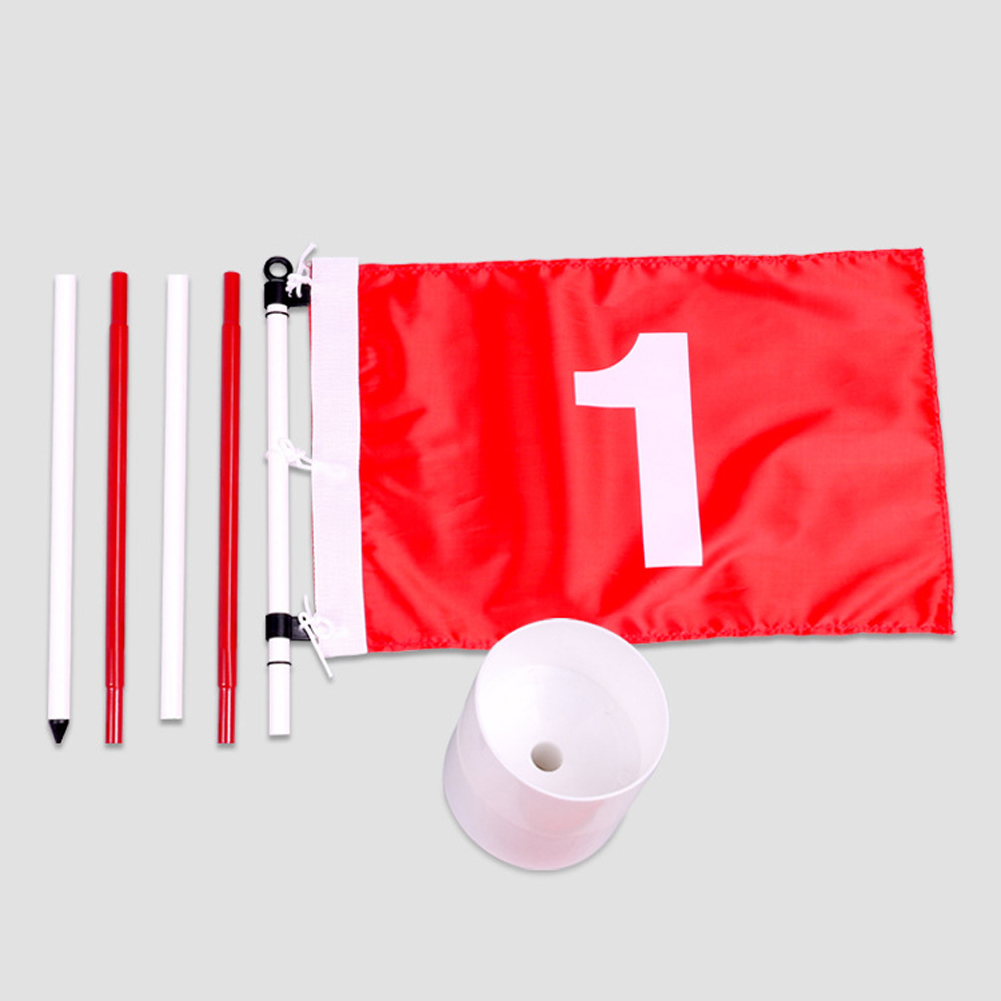 Golf Green Flag Kit Backyard Golf Course Simulation Easy Install Flagstick Pole Cup Hole For Golfer Gift
