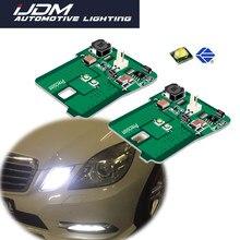 Ijdm para 2010-2013 mercedes w212 e-class e350 e550 e63 amg pre-lci estacionamento luz assy posição luzes branco azul vermelho 12v