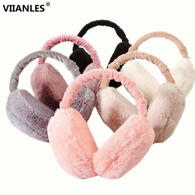 Winter Earmuffs New Earmuffs For Women Imitation Rabbit Fur Warm Cotton Ear Warmers Female Gifts Fur Earmuffs Girls