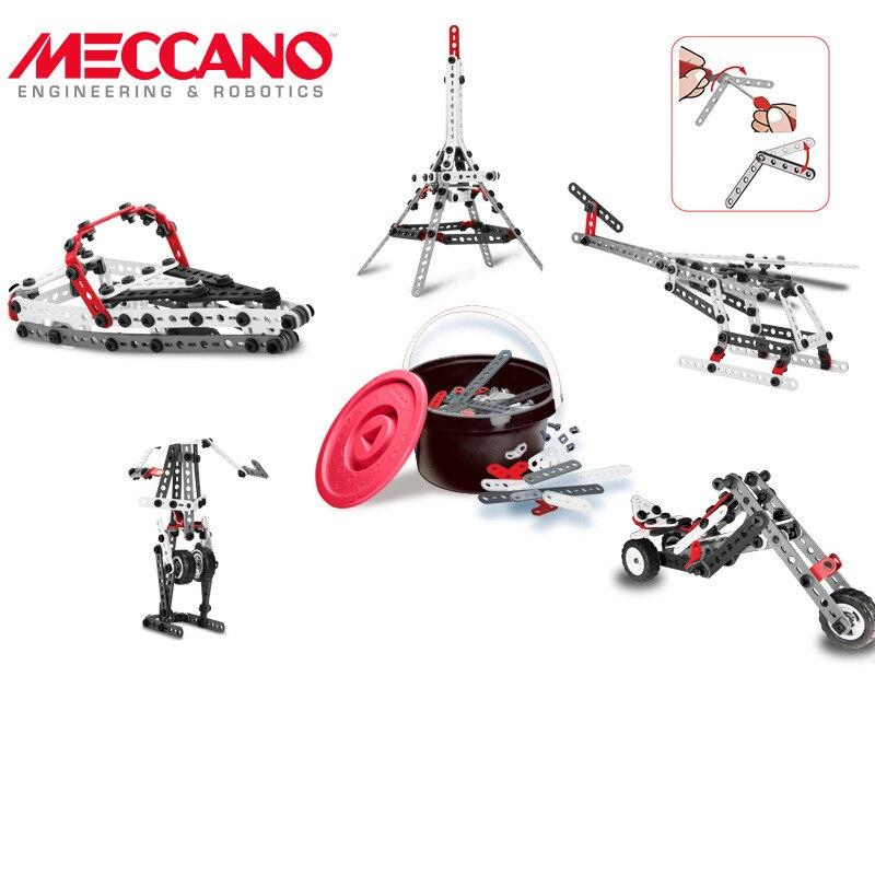 Оригинальный spin master Meccano 10 видов Набор для творчества модель многофункциональные части головоломка набор игрушек - 5