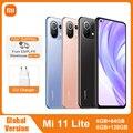 Глобальная версия Xiaomi Mi 11 Lite NFC 64GB/128GB Смартфон Snapdragon 732 Octa Core 64MP тыловая камера 4520 мАч Mi 11 Lite чехол для телефона