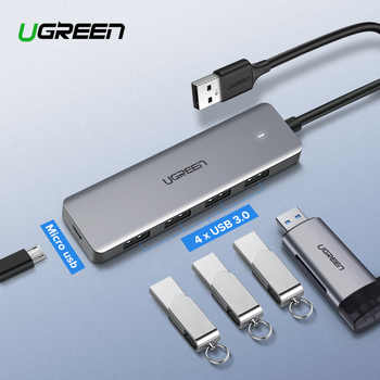 Ugreen USB 3.0 HUB Multi USB Splitter 3 USB3.0 Port with Micro Charge for MacBook Surface Pro 6 PC Computer Accessories USB HUB - DISCOUNT ITEM  25% OFF All Category