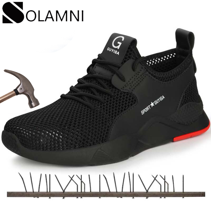 Mens WorkSafety Shoes Casual Breathable Outdoor Sneakers Puncture Proof /&6