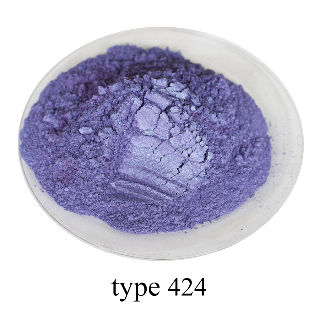 Type 424 Pearl Powder Mineral Mica Powder DIY Dye Colorant For Nail Soap Automotive Art Crafts 50g Violet Acrylic Paint Pigment