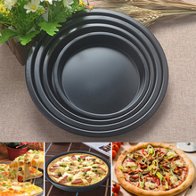 4 Size Non-Stick Pizza Pan Thickening  Deep Dish DIY Household Baking Plate Cake Mould Kitchen Bakeware Supplies