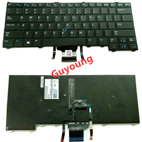 Laptop Backlit Keyboard For Dell Latitude E7440 E7420 E7240 US Standard With Track Point Notebook Keyboard