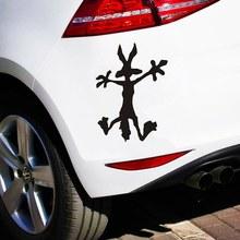 3 tamanhos engraçado personalidade assustado lobo janela do carro adesivo decalque do vinil auto corpo adesivo bloco scratch decalque