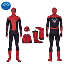 Manluyunxiao Spiderman Cosplay Halloween Costume for Kids Men Adult Marvel Spider Man Far From Home Superhero Outfit Custom Made